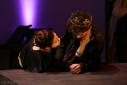 Lady Macbeth trying to console Macbeth