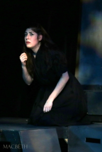 Lady Macbeth facing her guilt and fears